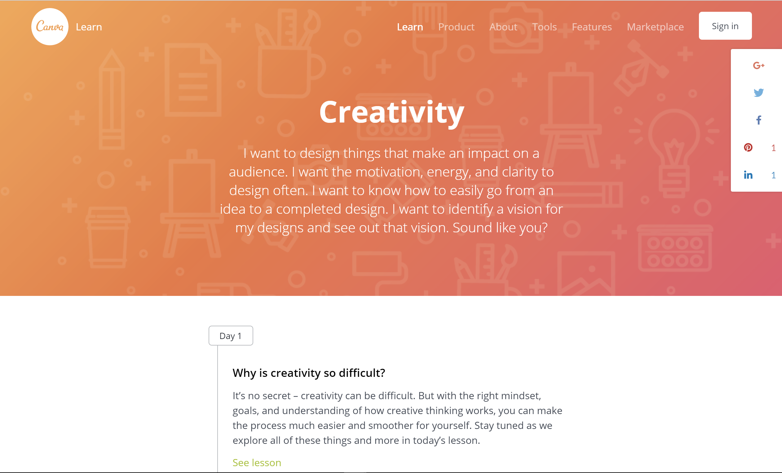 online marketing course about creativity